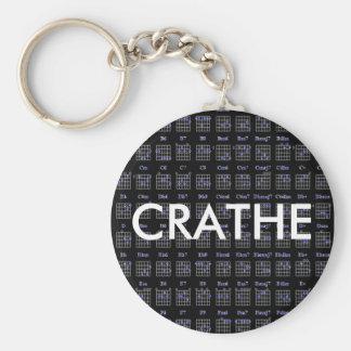 guitare-corde-charblk, CRATHE Porte-clé Rond