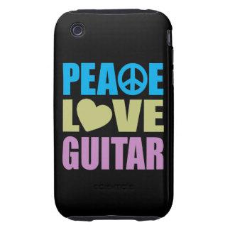 Guitare d amour de paix étuis tough iPhone 3