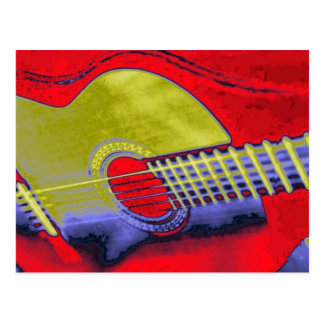 Guitare d'art de bruit cartes postales