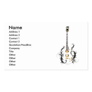 Guitare de fleur carte de visite standard