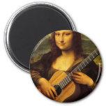 Guitare de Mona Magnet Rond 8 Cm