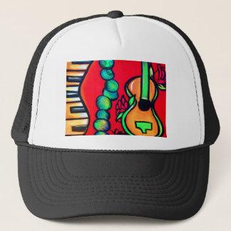 Guitare de rose rouge casquette