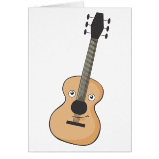Guitare de sourire cartes