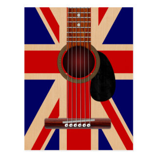 Guitare d'Union Jack Carte Postale