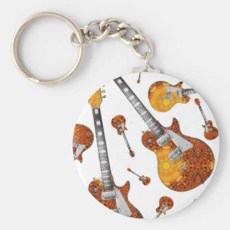 Guitare électrique 12.jpg porte-clé rond