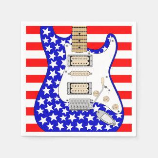 Guitare électrique américaine serviettes jetables