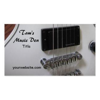 Guitare électrique carte de visite