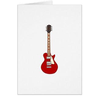 Guitare électrique cartes de vœux