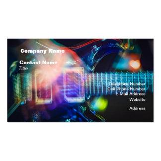Guitare électrique de flambage carte de visite standard