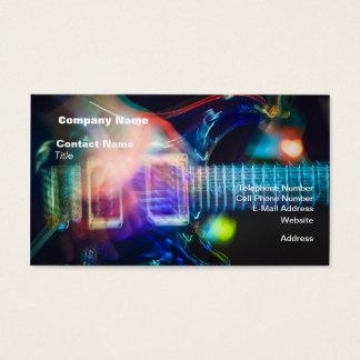 Guitare électrique de flambage cartes de visite