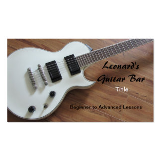 Guitare électrique - leçons carte de visite standard