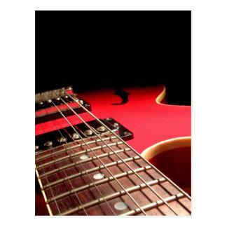 Guitare électrique rouge carte postale