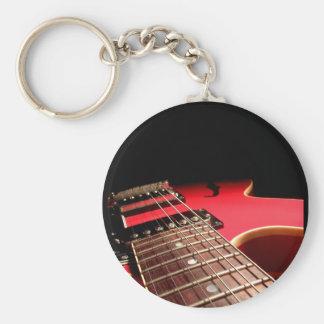 Guitare électrique rouge porte-clé