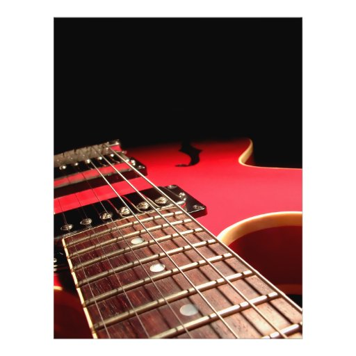 Guitare électrique rouge prospectus