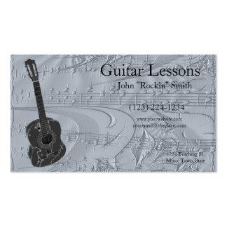 Guitare et notes musicales de relief carte de visite standard