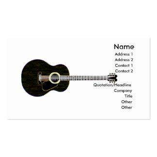 Guitare foncée - affaires carte de visite standard