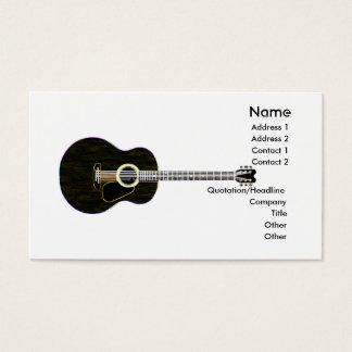 Guitare foncée - affaires cartes de visite