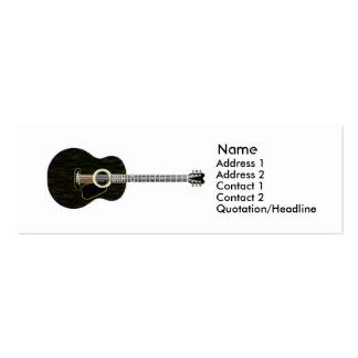 Guitare foncée - maigre carte de visite petit format