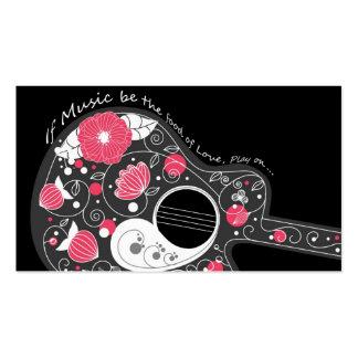 Guitare girly à la mode mignonne fraîche carte de visite standard