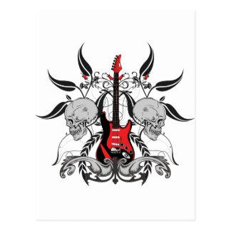 Guitare grunge et crâne