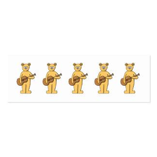 Guitare jouant l'ours carte de visite petit format