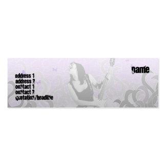Guitare - maigre carte de visite petit format