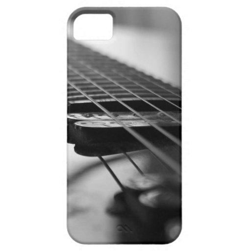 Guitare noire et blanche coques iPhone 5 Case-Mate