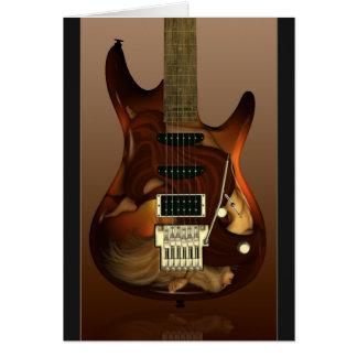 Guitare rêveuse - cartes personnalisables de grâce