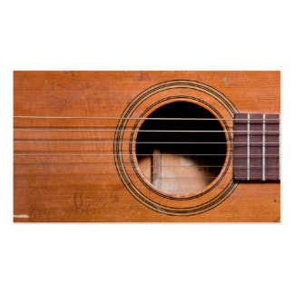 Guitare rustique modèle de carte de visite