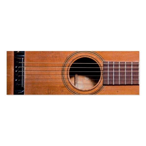 Guitare rustique modèles de cartes de visite