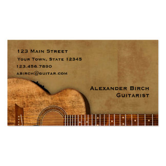 Guitare rustique carte de visite standard