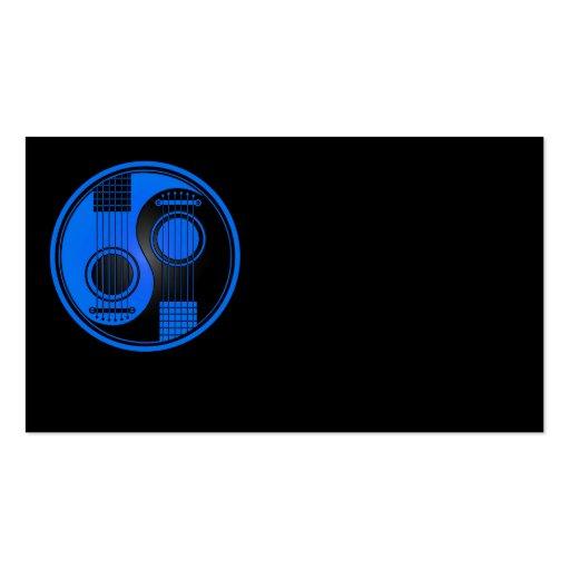 Guitares acoustiques bleues et noires Yin Yang Cartes De Visite Personnelles