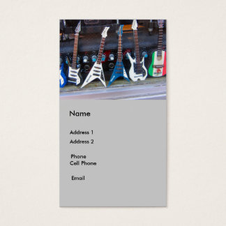 Guitares Cartes De Visite