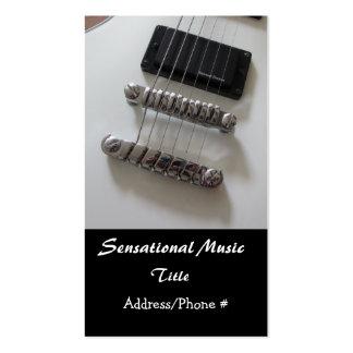 Guitares électriques cartes de visite professionnelles
