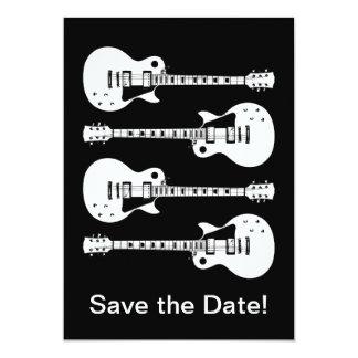 Guitares électriques graphiques carton d'invitation  12,7 cm x 17,78 cm
