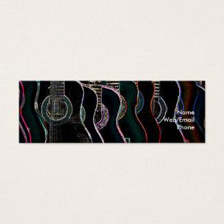 Guitares et musique mini carte de visite