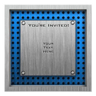 Guitariste balayé de métal-regard carton d'invitation  13,33 cm