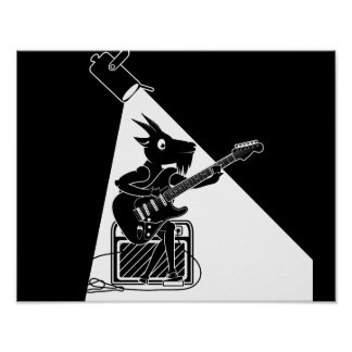Guitariste de chèvre posters