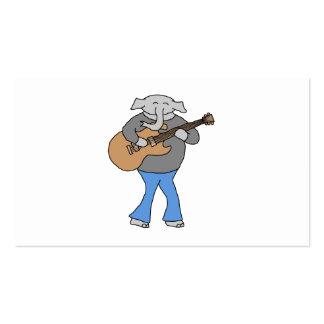 Guitariste. Éléphant jouant la guitare électrique Carte De Visite Standard