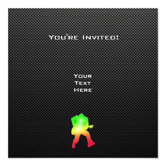 Guitariste lisse carton d'invitation  13,33 cm