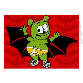 Gummibär est une carte de Halloween de vampire