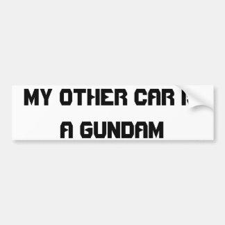 gundam autocollant pour voiture