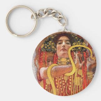 Gustav Klimt - déesse de médecine de Hygieia de Porte-clé Rond
