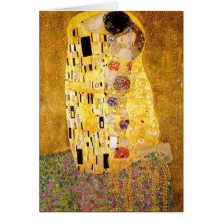 Gustav Klimt la carte de note de baiser
