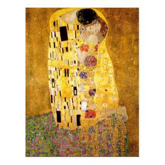 Gustav Klimt la carte postale de baiser