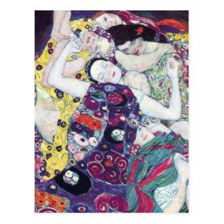 Gustav Klimt la carte postale de Vierge