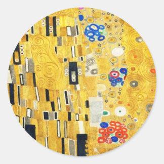 Gustav Klimt la peinture vintage de Nouveau d'art Sticker Rond