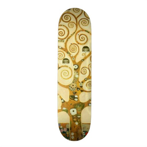Gustav Klimt l'arbre de l'art Nouveau de la vie Plateaux De Skateboards Customisés