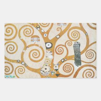 Gustav Klimt l'arbre de l'art Nouveau de la vie Sticker Rectangulaire