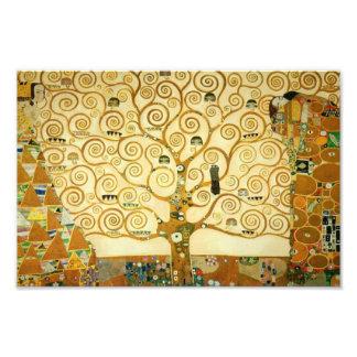 Gustav Klimt l'arbre de l'art vintage Nouveau de Impressions Photo